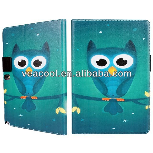 Owl PU Stand Book Wallet Leather Case Cover for Samsung Galaxy Note 10.1 2014 Edition P600 P601 Stand Case