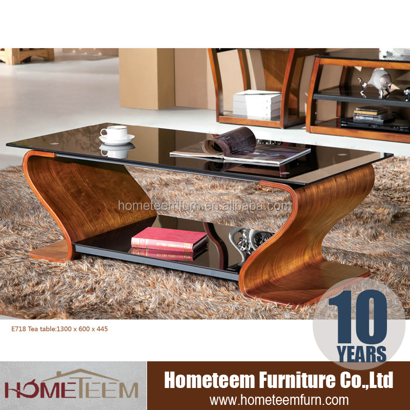 2016 latest design modern glass coffee table