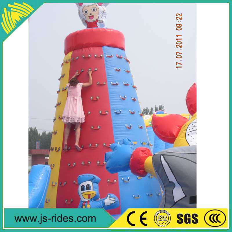 Factory price giant commercial inflatable rock climbing wall from china