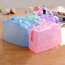 Factory OEM Hotsell waterproof pvc clear makup bag/frosted pvc cosmetic bag