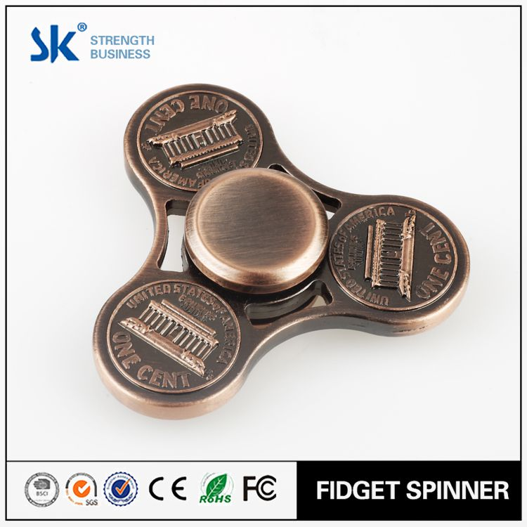 Sanke 2017 Get Your Own Designed Factory Fast Delivery 606 bearing adhd fidget toys adults 3d metal wind spinner