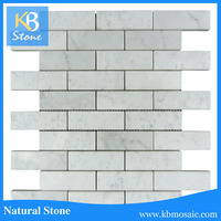"2016 KB STONE 12""x12"" Carrara White Rectangle Marble Natural Stone Mosaic"