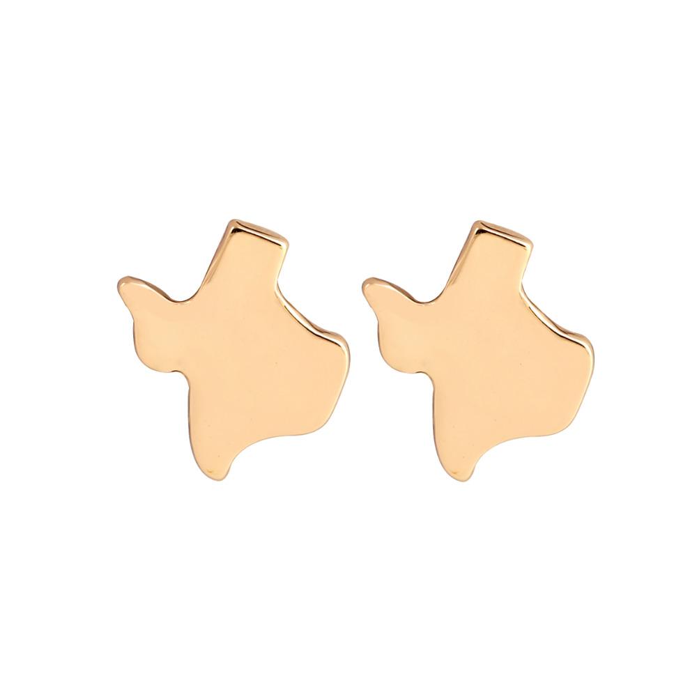 Texas Earrings Cute Helix Map Stud Earring for Women