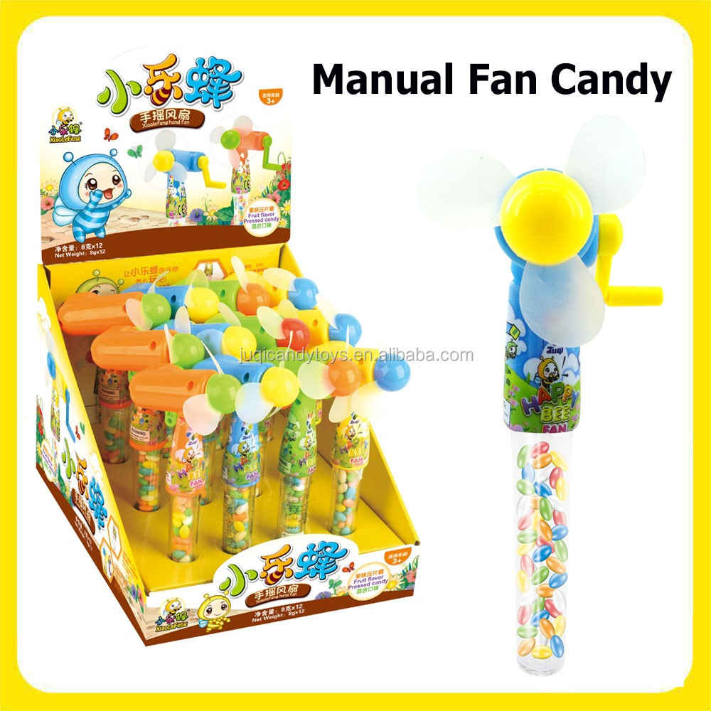 2017 New Arrival Sweet Manual Fan Toys Filled with Candy