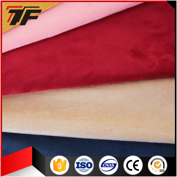 300GSM Spandex Suede Fabric 10% Spandex + 90% Polyester