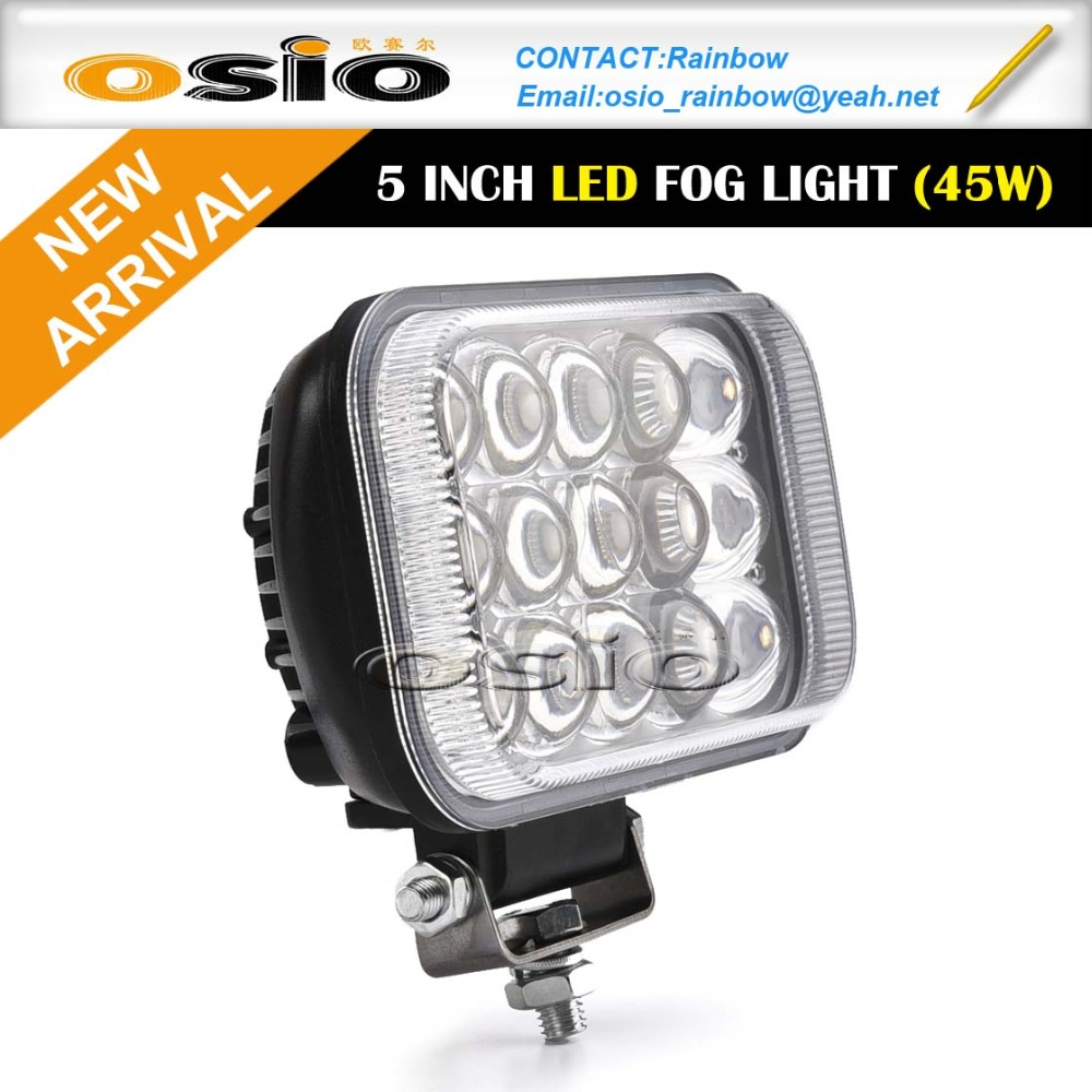 5 inch Square LED Head Light High Power 45W 8V-36V
