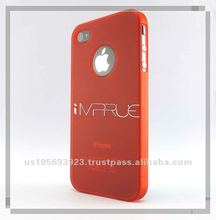 With ruberized oil PC cell phone cover For iphone 4g/4s