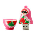alibaba express Russian Doll model with logo usb pendrive chip and usb flash housing