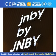 Illuminated Acrylic Led Sign Alphabet Epoxy Resin Surface Front-Lit Channel Letter Outdoor Lighted