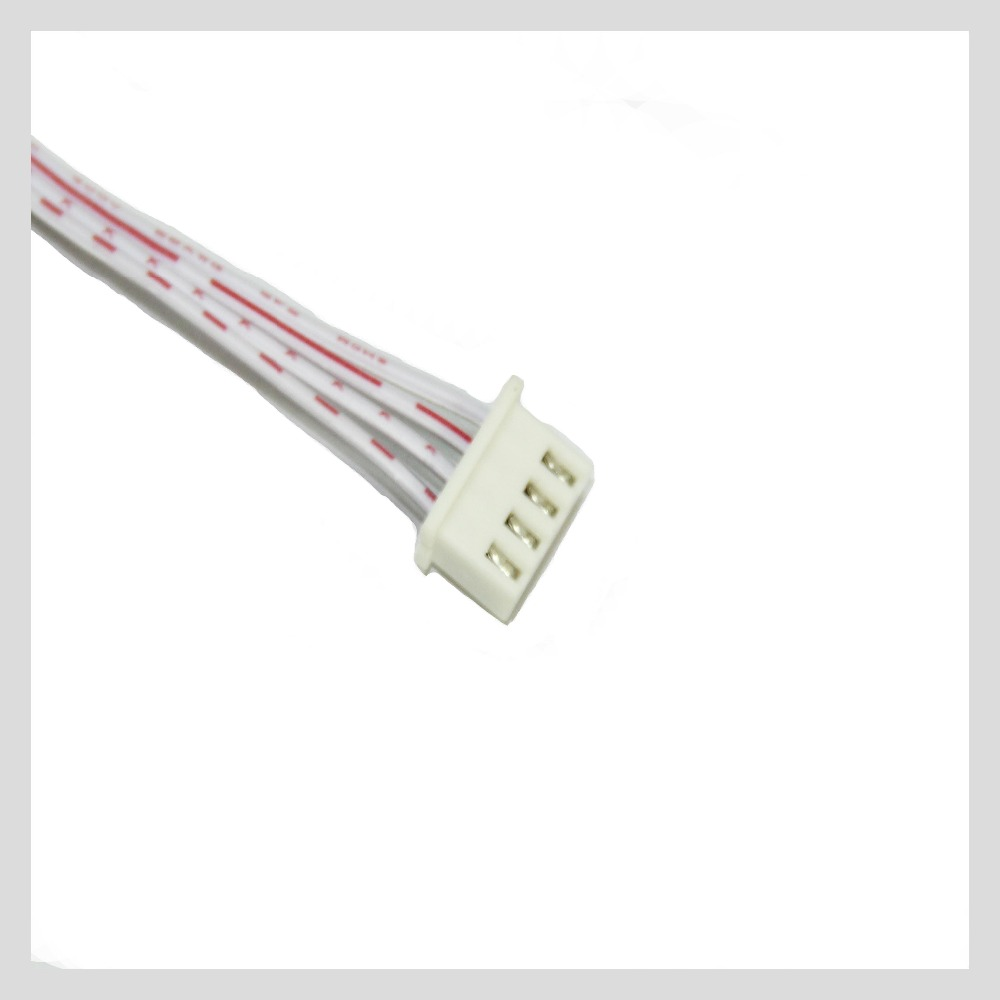 4 PIN ribbon cable connector red and white flat ribbon cable electronic wiring harness