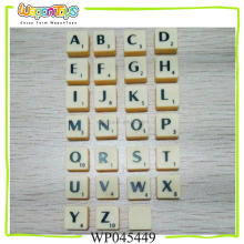OEM educational scrabble game tiles sale in bulk letters plastic tiles craft scrabble piece