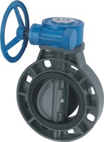 Plastic gear operated butterfly valves UPVC butterfly valve DN200
