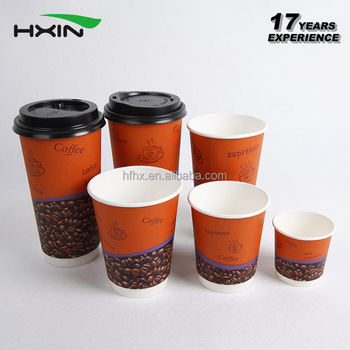 all sizes custom print disposable double wall coffee paper cup