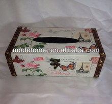 Wooden Rectangle Tissue Box