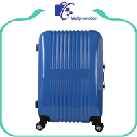 Stylish blue travel carry on abs trolley luggage bags and cases