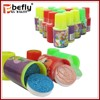 Really cheap mini bottle packing stamp candy toy from shantou