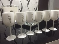 white color wine glasses/wholesale plastic wine glass/MOET cups