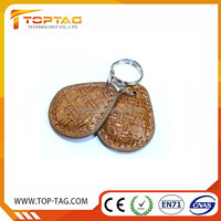 China Reliable Manufacture rfid leather/ABS key fob Custom cheap leather key chain fob