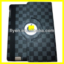 360 rotating magnetic leather case stand for ipad 4 ipad 3 ipad 2 grape pattern smart cover best wholesale