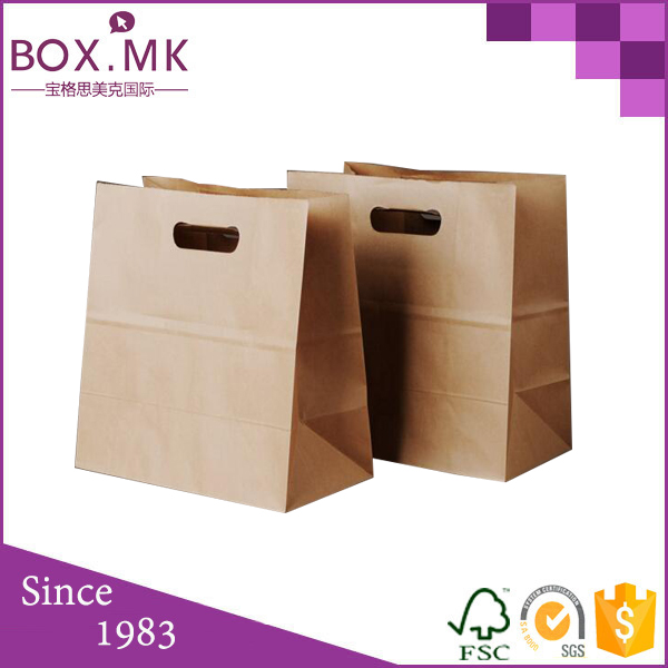 High Quality Food Grade Die Cut Handle kraft air bag cargo bag truck bag
