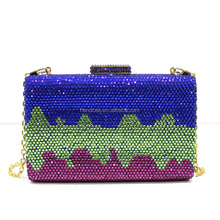 Funky design beutiful ladies crystal wallet with stones
