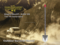 Long handle aluminum shovel ,Emergency Wildness expedition Sport Utility Shovel pick axe , survival kit
