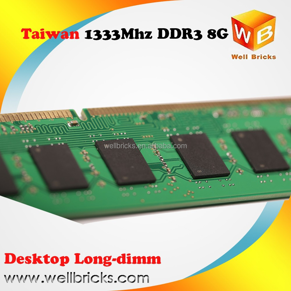 Taiwan original chips ddr3 ram 8gb 1600mhz memory