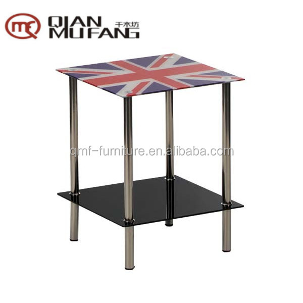 black painted shelf glass united Kingdom side table