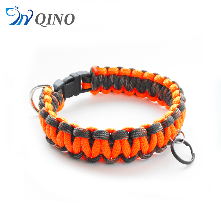 QN-A-5939 china cheap price custom paracord dog collar in guangzhou