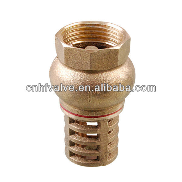 Brass valve brass foot valve in check valves