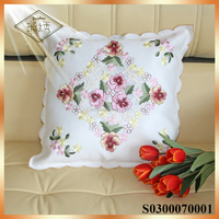Newest fancy embroidered cushion covers