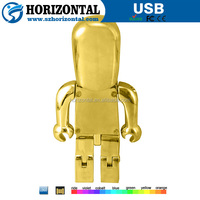 hot in the market big ben gold & silver robot diamante USB flash drive