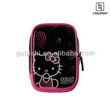 Cartoon PU lady digital camera bag