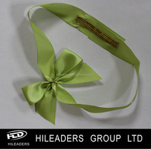 Wholesale gift wrapping satin ribbon pre-made elastic band ribbon bow