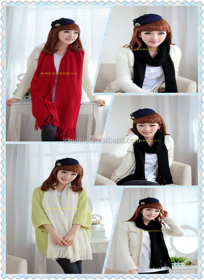 new winter girls lady fashion winter neck scarf knitting factory in hangzhou