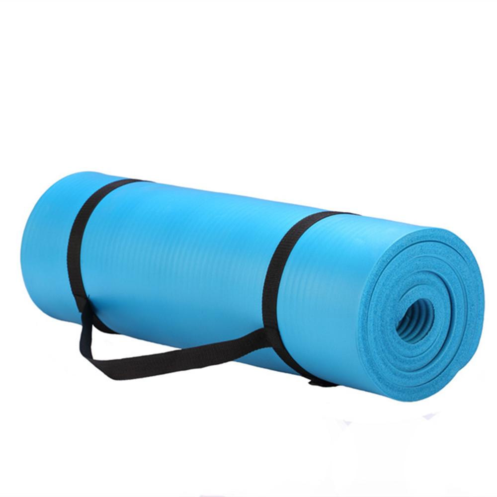Gymnastic Exercise Nbr Blue High Quality Yoga Mat 15mm