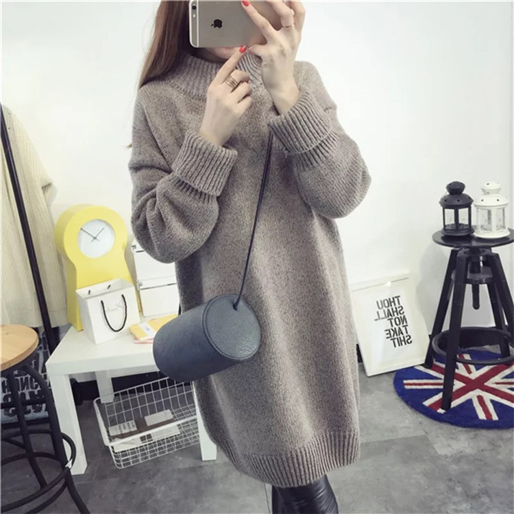 2017 Latest desing autumn and winter blank women knitted long fringe sweater dress