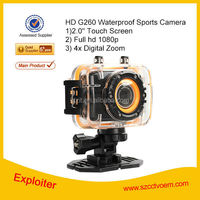 5.0 Megapixel 2.0' Touch Screen Mini Waterproof Zoom Action Camera