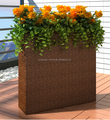modern garden square vase restaurant outdoor decoration plant furniture rattan flower pot