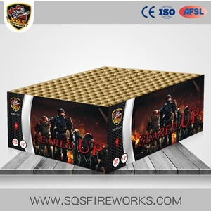 Wholesale factory direct rectangle shape 180 shots cakes display firework