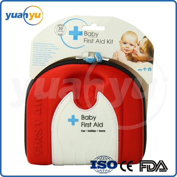 2016 New hot cutely baby first aid kit durable and sturdy eva foam pouch medical children and kids nursing bag