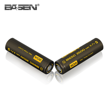 Hot selling 2017 18650 BASEN 3500mah rechargeable battery 3.7v 30A for vape mod