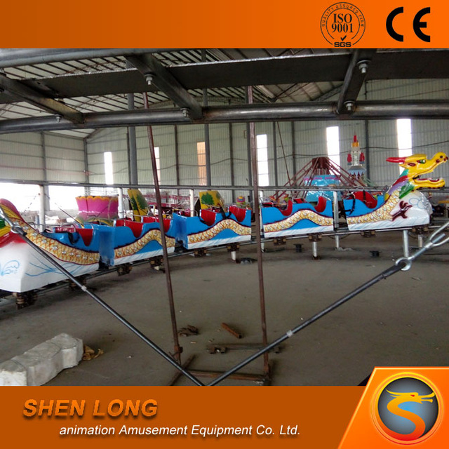 Amusement park children sliding dragon roller coaster theme park slide ride for sale