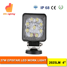 New arrival 27w motorcycle led driving lights for UTV, motorcycle led lighting,led motorcycle lights 4d led driving light bar
