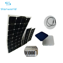 China supplier Best price 100W flexible rollable bendable solar panel for solar power system home panel