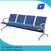 wholesale waiting room chairs modern/4-seater waiting chair/the price of steel waiting chair 4 seat