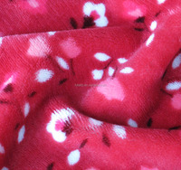 100% polyester floral print fleece flannel fabric