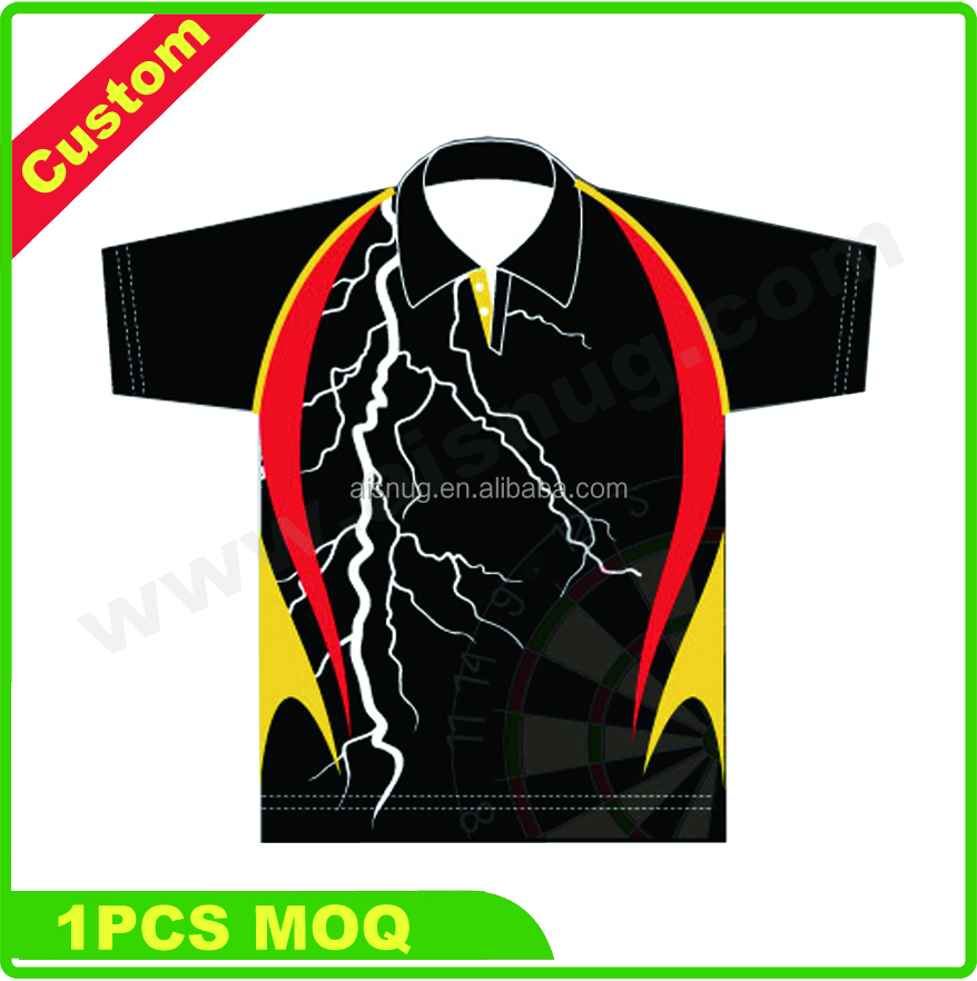 club Mens's pro polo custom dart jersey with zipper