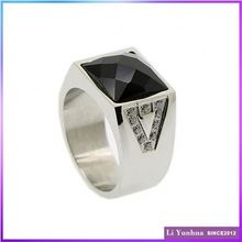 Best Design Custom Black Stone Ring For Men
