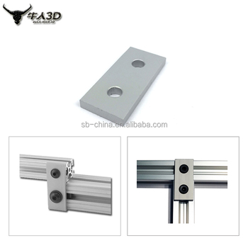 Factory Price Aluminium Accessories 2 Hole Joining Strip Plate